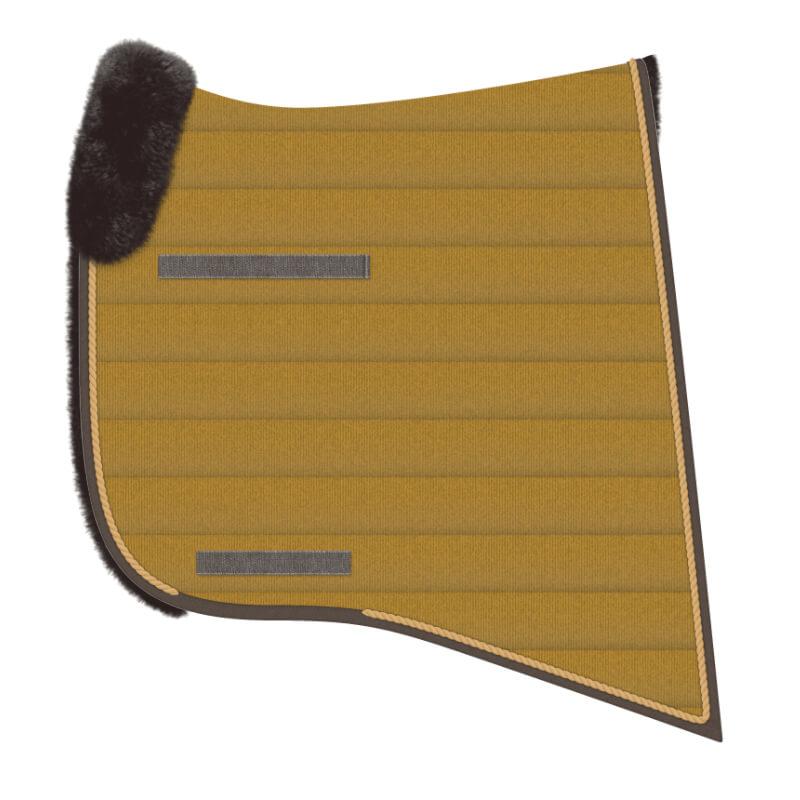 WONDERPAD BAROCK Schabracke mit Lammfell Sichelform